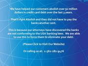 Tell the Card company,  you are stopping to pay card dues